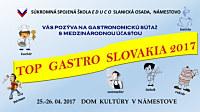 Veľký úspech na gastronomickej súťaži TOP GASTRO SLOVAKIA 2017 NÁMESTOVO